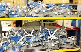 The suspensions are shipped flat and then assembled to their proper form.